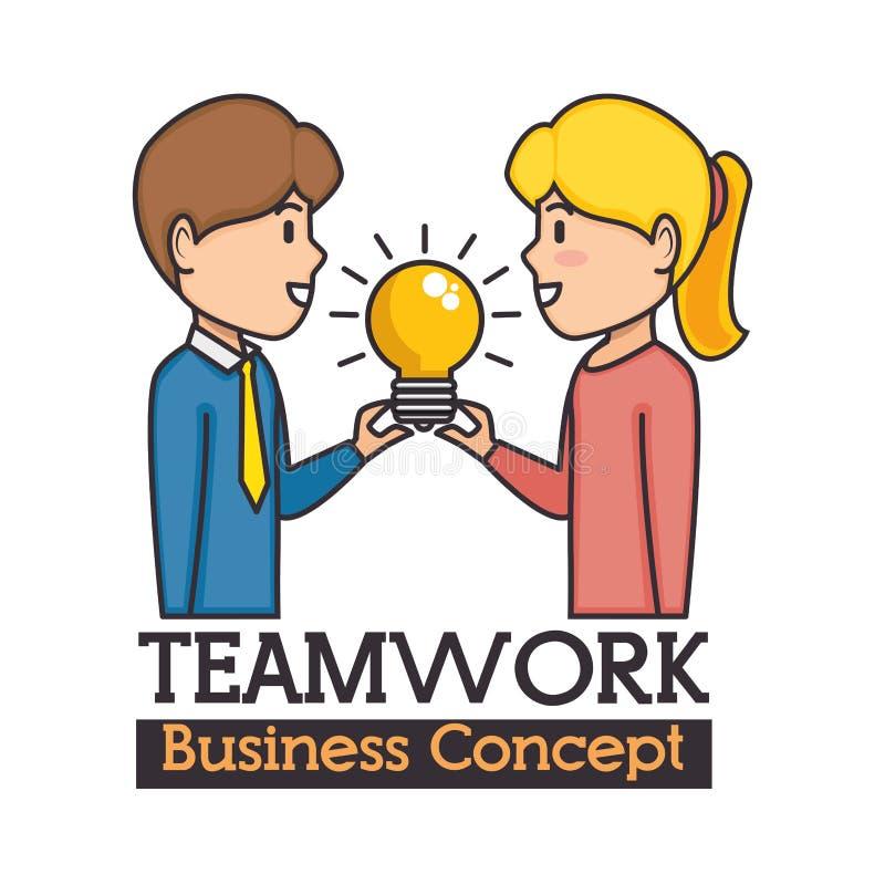 Conceito do negócio dos trabalhos de equipa ilustração stock