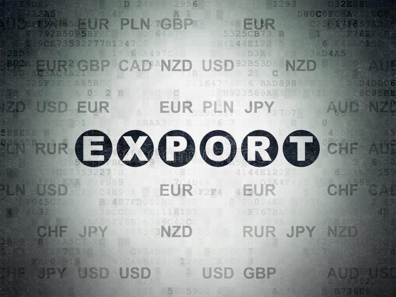 Conceito do negócio: Exportação no fundo do papel dos dados de Digitas ilustração royalty free