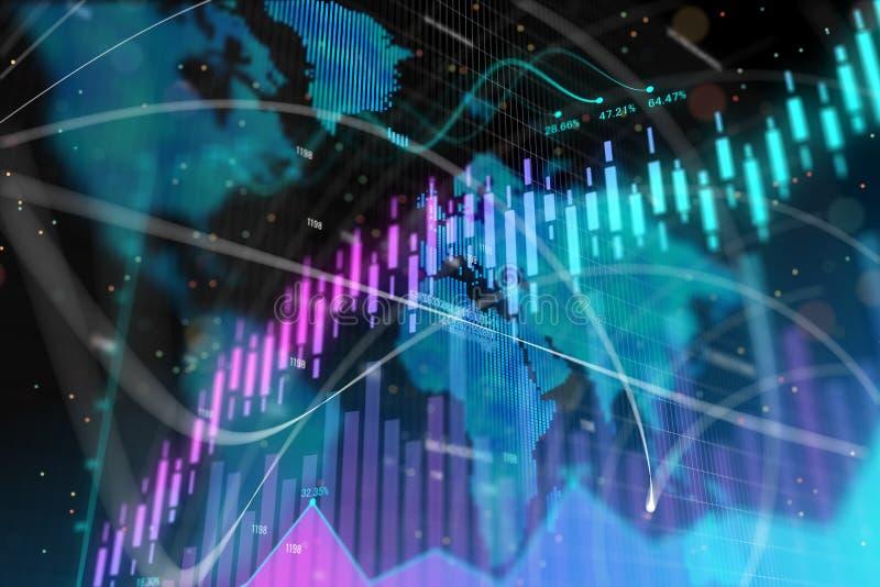 Conceito do negócio global, do comércio e da economia ilustração do vetor