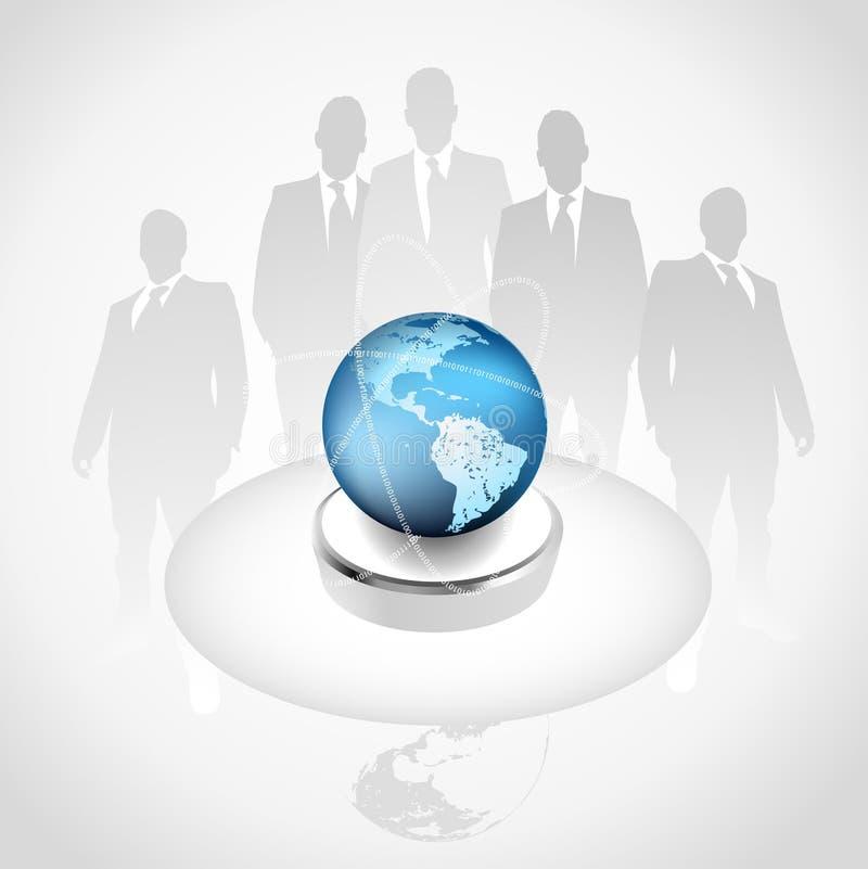 Conceito do negócio global - edição superior ilustração royalty free