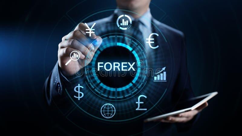 Conceito do negócio do investimento do Internet da taxa de câmbio da moeda de troca dos estrangeiros imagem de stock royalty free