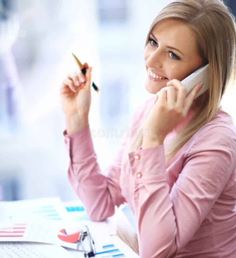 Conceito do negócio - mulher de negócios foto de stock