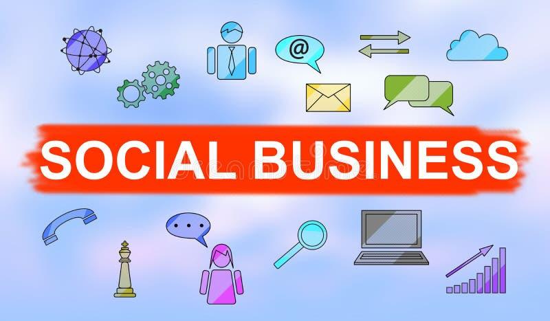 Conceito do negócio social ilustração royalty free