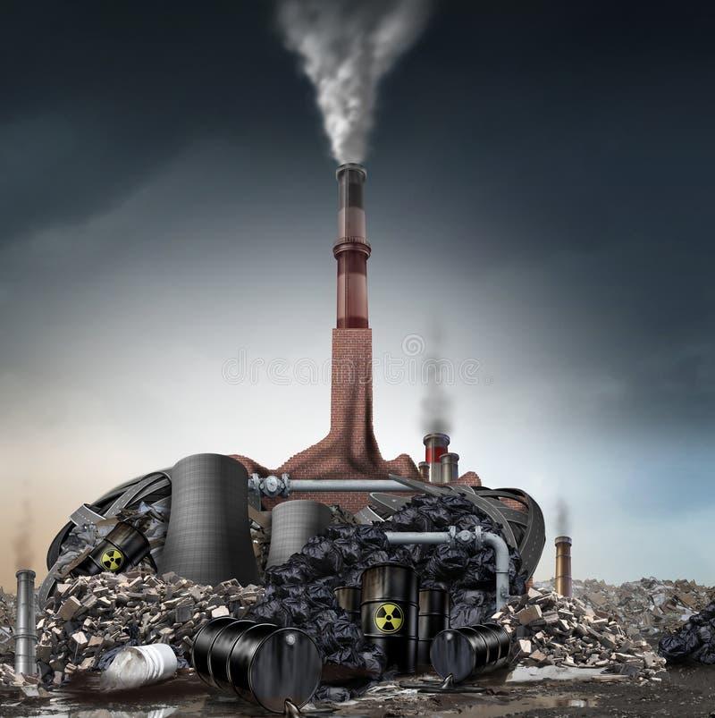Conceito do negador das alterações climáticas ilustração stock
