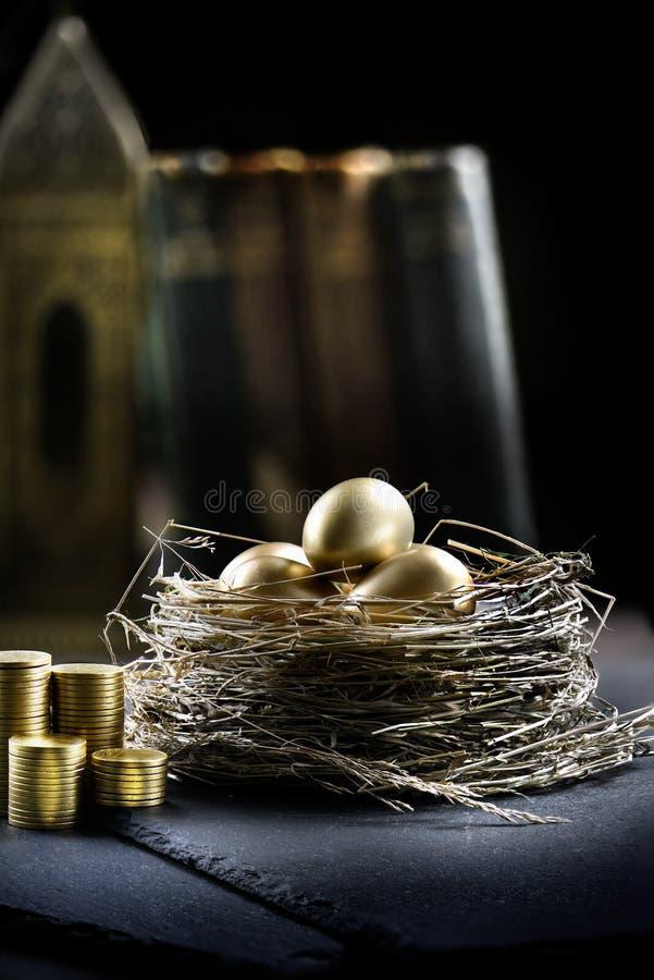 Conceito do ninho da pensão foto de stock