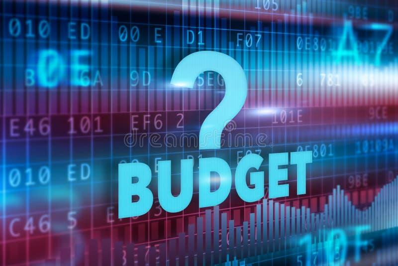 Conceito do orçamento ilustração royalty free