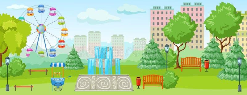 Conceito do parque da cidade ilustração stock