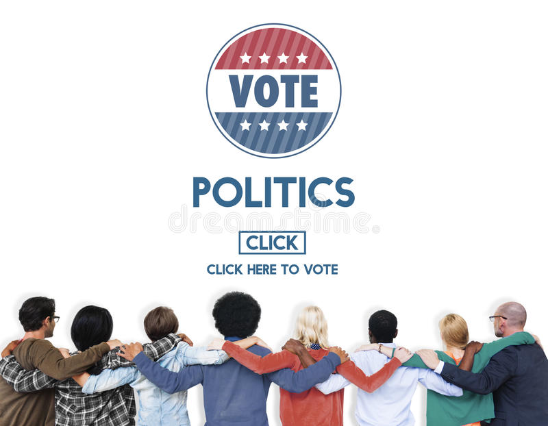 Conceito do partido do governo da eleição do voto da política foto de stock