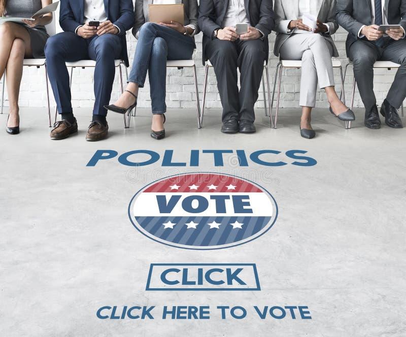 Conceito do partido do governo da eleição do voto da política foto de stock royalty free