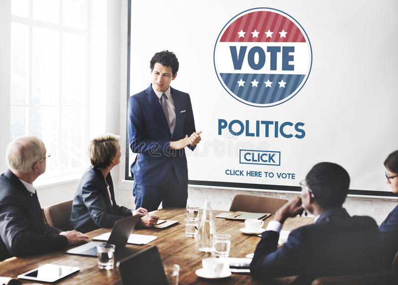 Conceito do partido do governo da eleição do voto da política fotos de stock royalty free