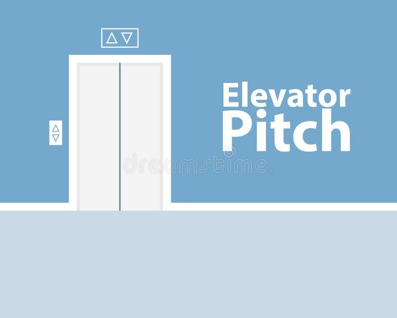 Conceito do passo do elevador ilustração royalty free