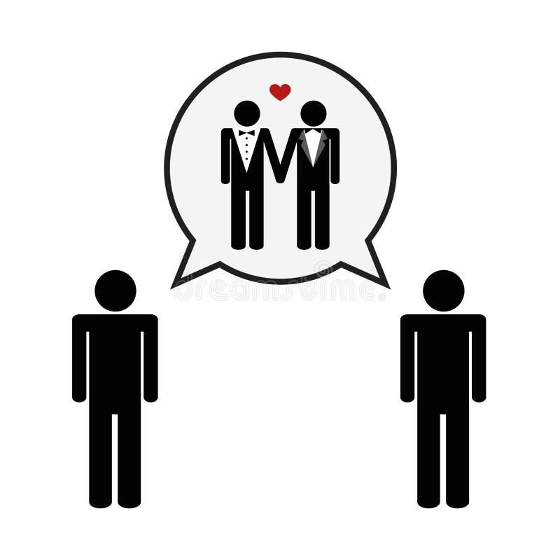 Conceito do pictograma alegre do casamento do amor ilustração do vetor