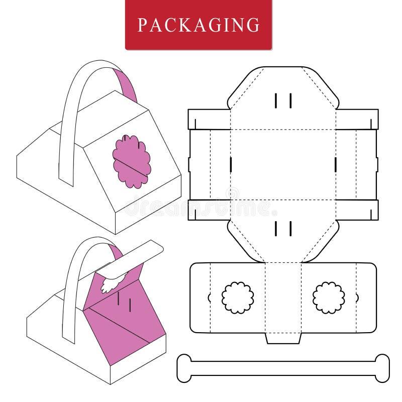 Conceito do piquenique do molde do pacote ilustração royalty free