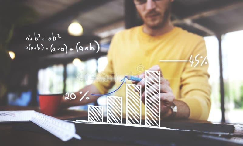 Conceito do planeamento do aumento do sucesso do crescimento da computação da matemática fotos de stock