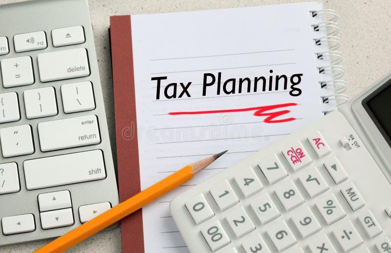 Conceito do planeamento fiscal fotos de stock