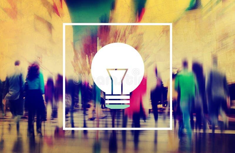 Conceito do poder da inovação da visão da inspiração das ideias da ampola ilustração do vetor
