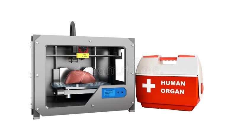 conceito do processo da transplantação de criar o usin dos órgãos humanos ilustração royalty free