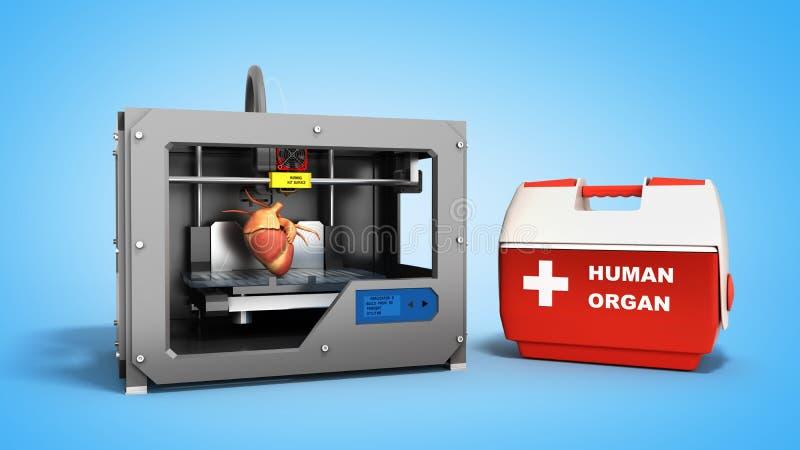 conceito do processo da transplantação de criar o usin humano dos corações ilustração stock