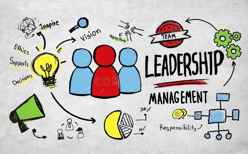 Conceito do profissional da visão da gestão da liderança do negócio foto de stock royalty free