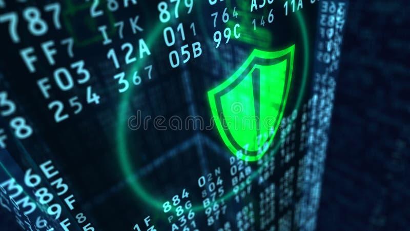 Conceito do protetor da segurança do Cyber foto de stock