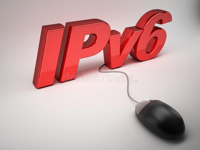 Conceito do protocolo IP Ipv6 ilustração royalty free