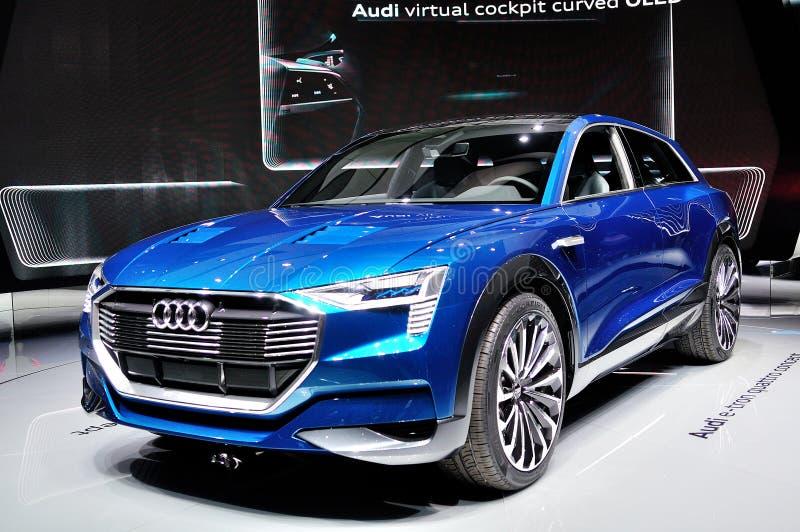 Conceito do quattro de Audi e-Tron imagem de stock