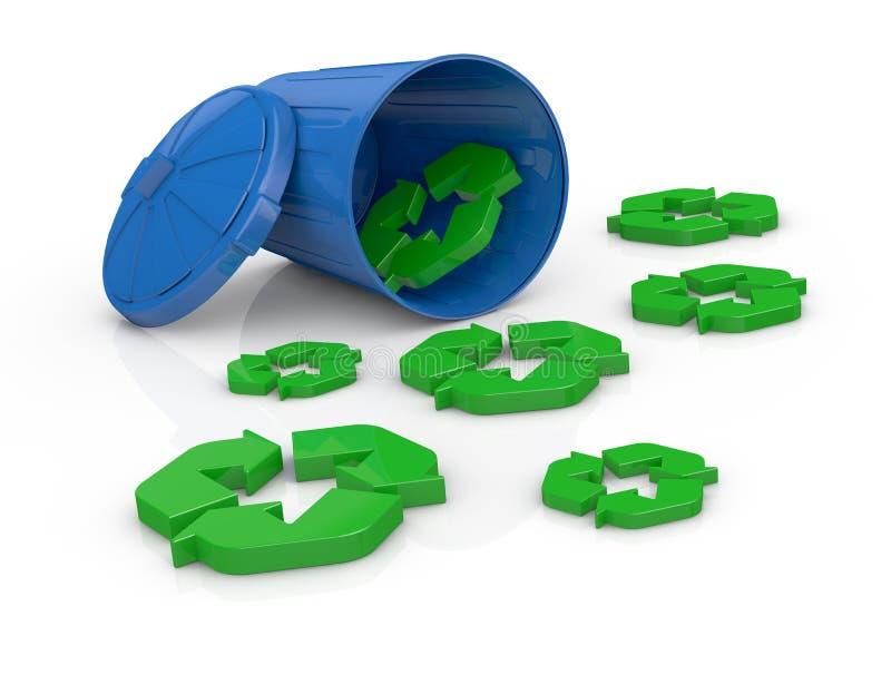 Conceito do recicl ilustração stock