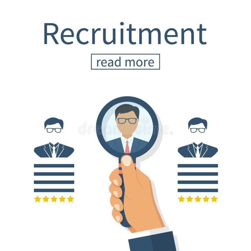 Conceito do recrutamento Recursos humanos ilustração stock