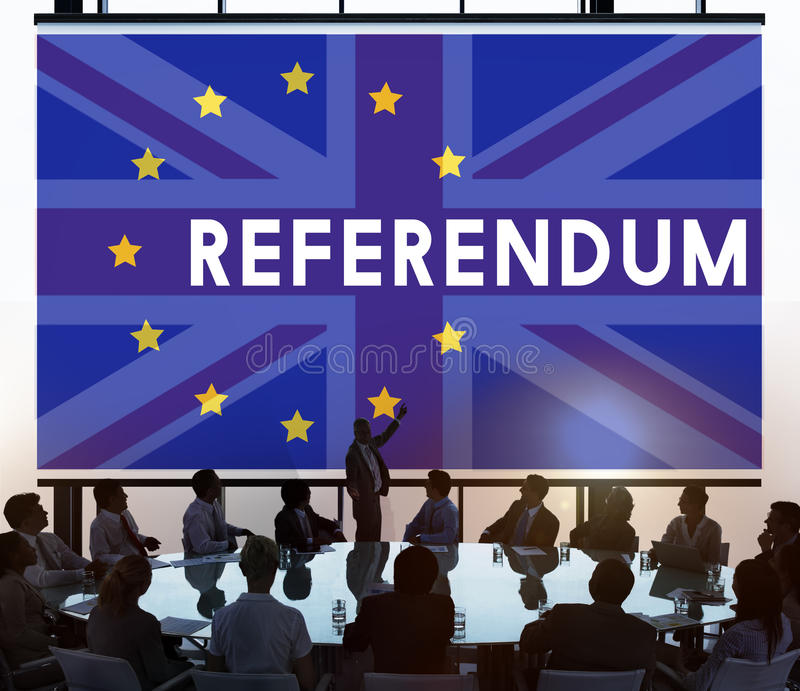 Conceito do referendo da UE Brexit de Grâ Bretanha imagens de stock royalty free