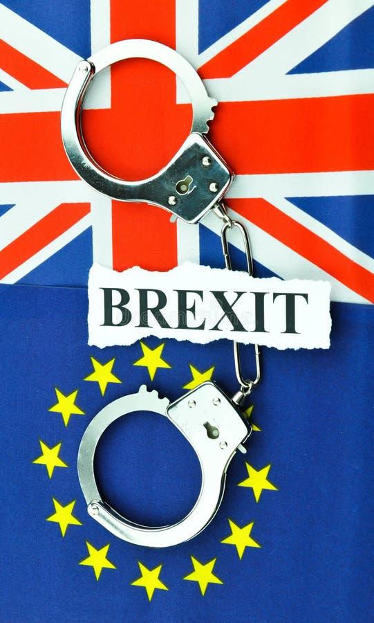 Conceito do referendo de Brexit imagens de stock