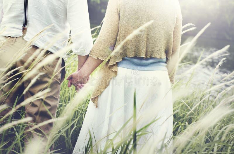 Conceito do relacionamento da paixão dos pares da unidade do amor imagem de stock