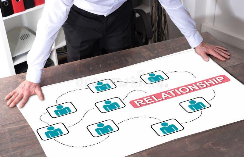 Conceito do relacionamento em uma mesa imagem de stock