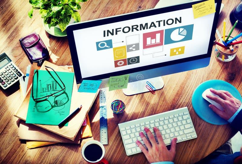Conceito do relatório de informação da analítica da análise de dados imagens de stock royalty free