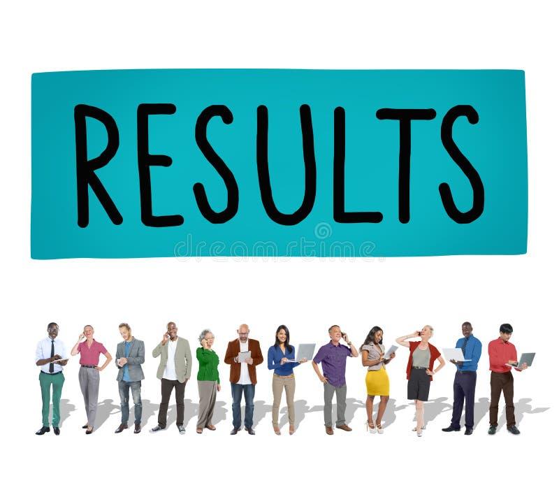 Conceito do resultado da eficiência da avaliação do efeito dos resultados imagens de stock royalty free