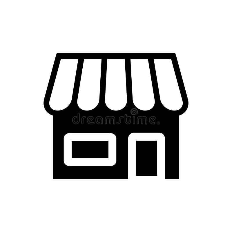 Conceito do retalho do símbolo da loja do ícone do vetor da mercearia para o projeto gráfico, logotipo, site, meio social, app ilustração royalty free