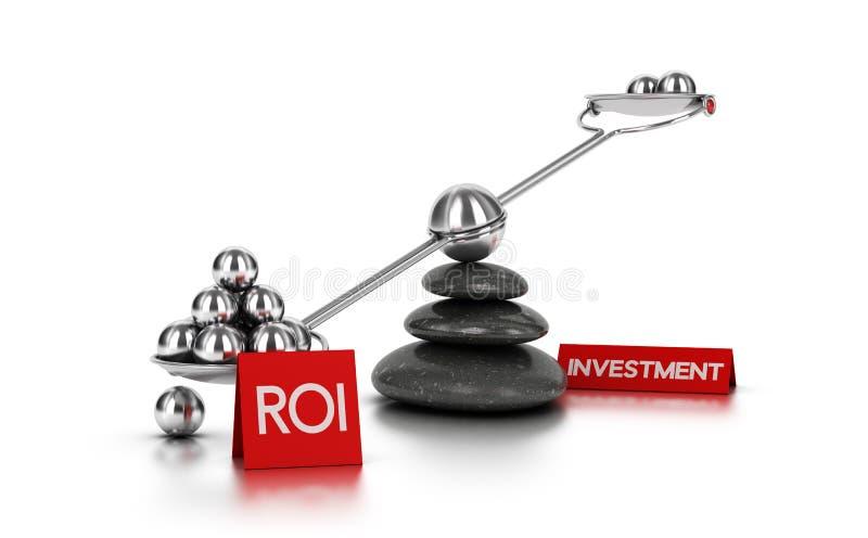 Conceito do retorno sobre o investimento ilustração stock