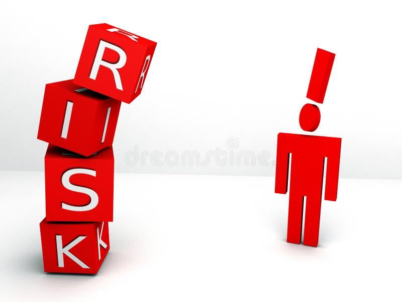 Conceito do risco ilustração do vetor