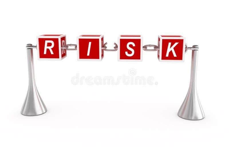 Conceito do risco. ilustração stock