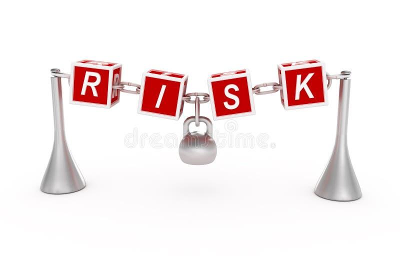 Conceito do risco. ilustração do vetor