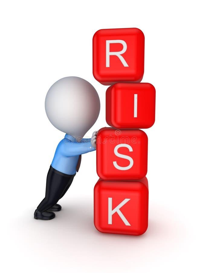 Conceito do risco. ilustração royalty free