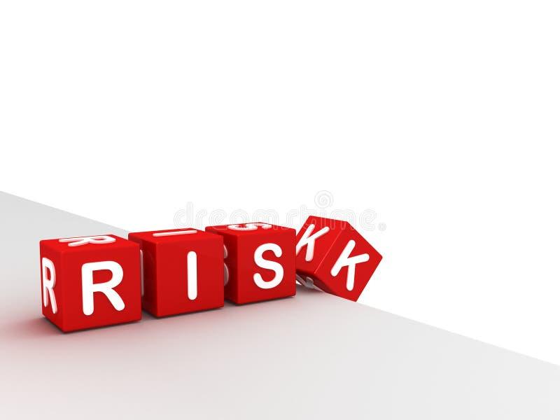 Conceito do risco de negócio. blocos de queda ilustração stock