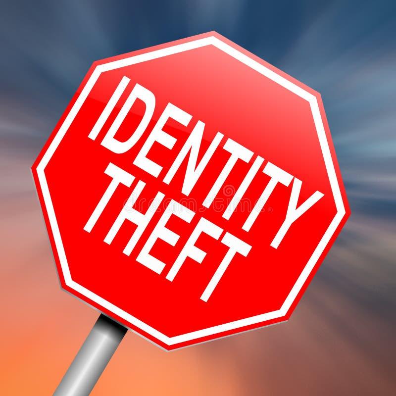 Conceito do roubo de identidade. ilustração stock