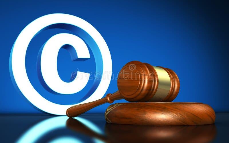 Conceito do símbolo das leis de direitos de autor ilustração royalty free