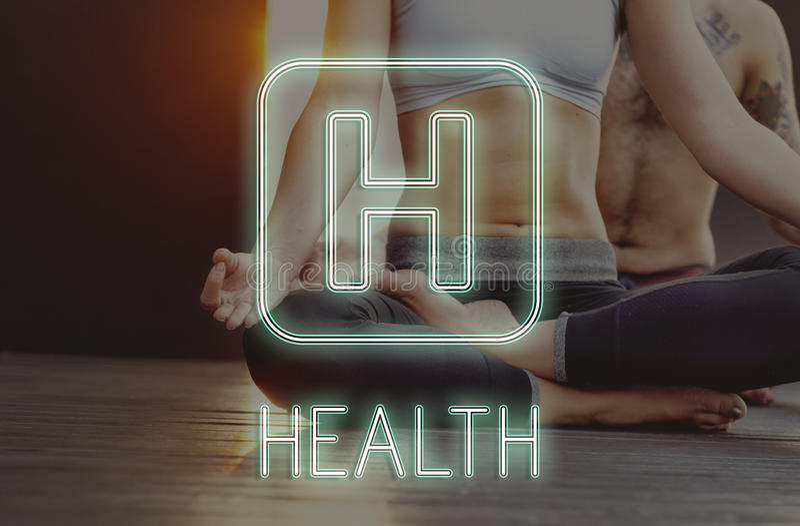 Conceito do símbolo do ícone do hospital da saúde imagens de stock