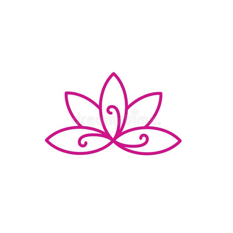 Conceito do símbolo do projeto de Zen Meditation Mandala w ilustração royalty free