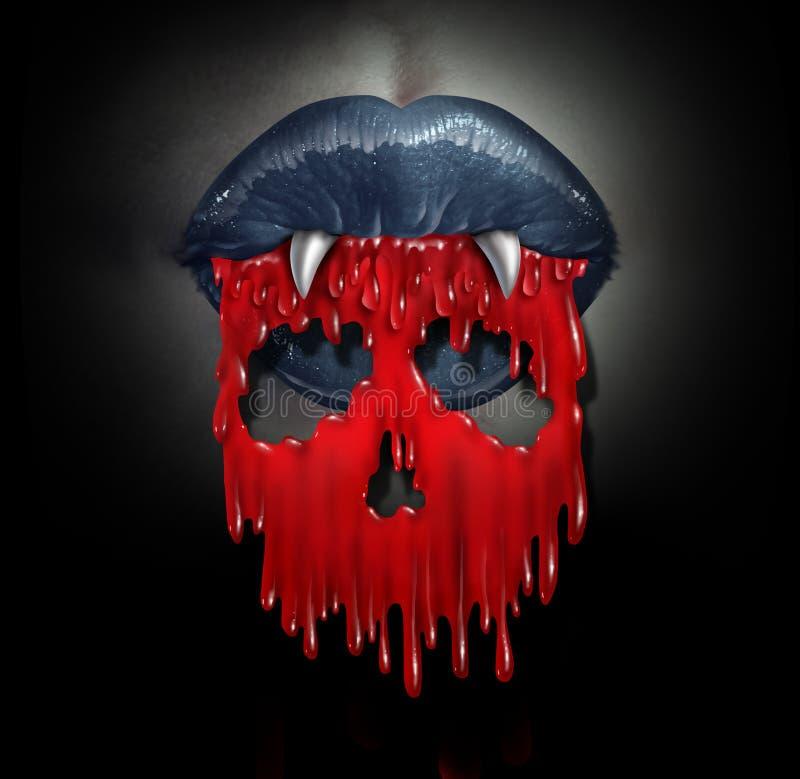 Conceito do sangue do vampiro ilustração stock