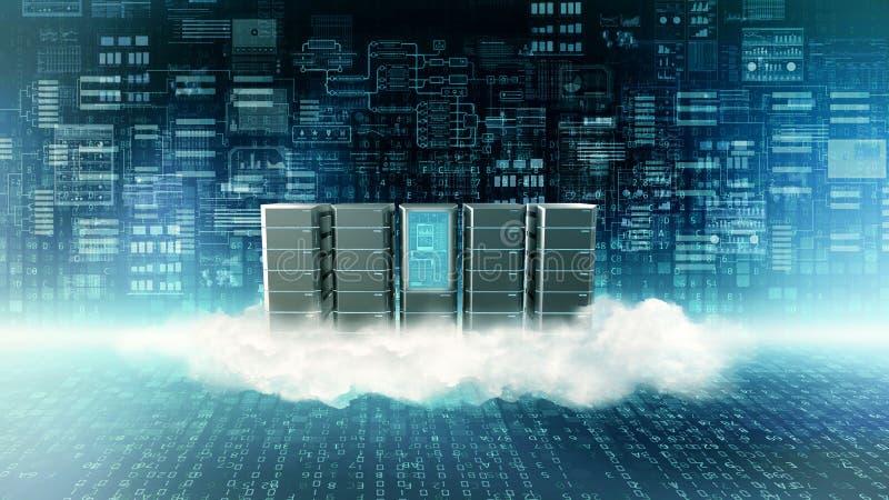 Conceito do saque da nuvem do Internet ilustração do vetor