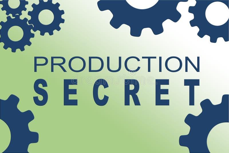Conceito do segredo da produ??o ilustração stock