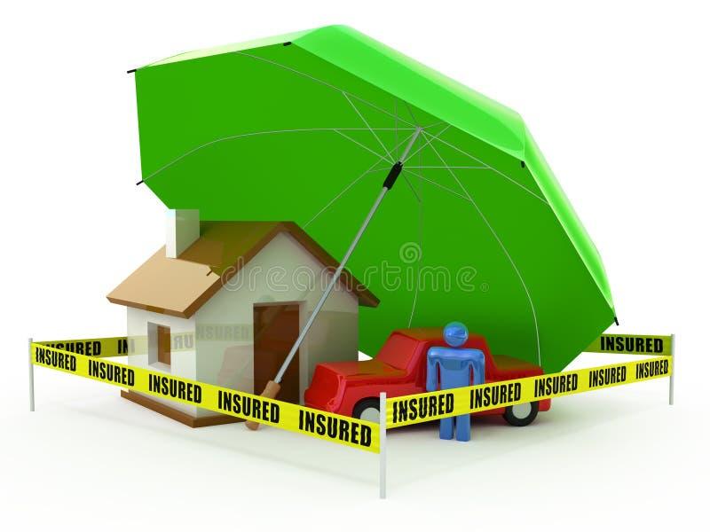 Conceito do seguro ilustração stock