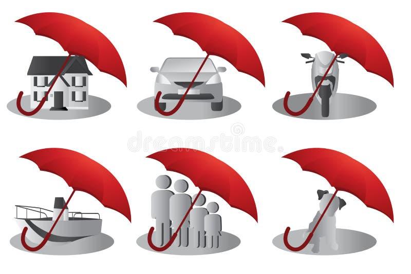 Conceito do seguro ilustração do vetor
